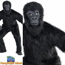 GORILLA APE KING KONG ZOO SAFARI ADULT - one size - mens fancy dress costume