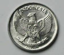 1957 INDONESIA Aluminum Coin - 25 Sen - BU gem UNC lustre - eagle coat of arms