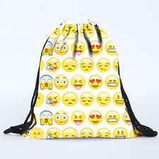 Smiley Emoji Print Backpack Rucksack Travel Sports Satchel School Shoulder Bag