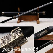 "42""inch High Quality Chinese Sword""Han Jian""(劍)Carbon Steel Blade Two Blood Slot"
