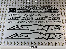 AZONIC Stickers Decals Bicycles Bikes Cycles Frames Forks Mountain MTB BMX 57Z