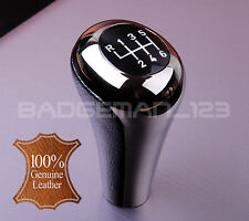 BMW manuel 6 vitesses cuir gun metal gear knob shift E60 E46 E39 E90 E92 E91 Z4