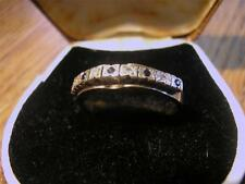 Lovely Vintage Unusual 9ct Gold, Sapphire & Diamond Ring