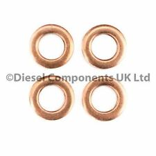 Diesel Injector Washers Seals for Audi 80 Common Rail - Pack of 4
