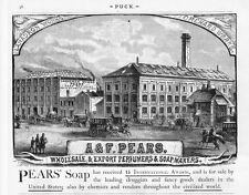 PEARS WHOLESALE & EXPORT PERFUMERS & SOAP MAKERS LANADRON WORKS ADVERTISEMENT
