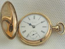 alte Sprungdeckel Taschenuhr Gold-Doublé Waltham  um 1900