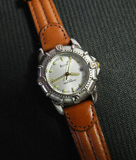 BULOVA 2-TONE Womens Watch LUMINOUS HANDS Brushed/Glossy NEW BATTERY Excellent