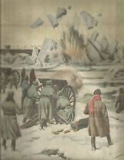 K0598 In Romania gli artiglieri spezzano i ghiacci a cannonate - Stampa antica