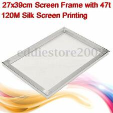 27cmx39cm Aluminum Alloy Silk Screen Printing Frame with 47t 120M Screen Mesh