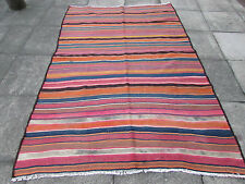 Old Traditional Hand Made Persian Oriental Kilim Wool  Colourful 250x160m