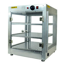 Commercial 20x20x24 Countertop Food Pizza Pastry Warmer Display Cabinet Case