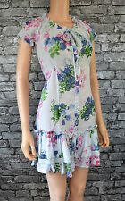 Ellos Womens Baby/Pale/Powder Blue Floral Print Cotton Tea Summer Dress Size 16