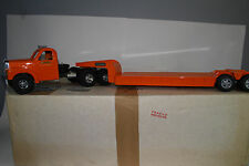 Smith Miller B Model Mack, Lowboy Machinery Hauler Truck with Box