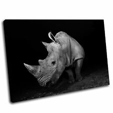 Rhino Canvas Animal Wall Art Print Framed Picture 27 Gallery Grade