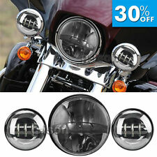 """7"""" LED Projector Daymaker Headlight + Passing Lights Fits Harley Street Glide"""