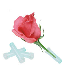 25Pcs 2.8'' Floral Water Tube Fresh Flower Rose Pick Wedding Party Gift With Cap