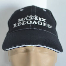 Matrix Reloaded Hat Mens Black Embroidered Baseball Ball Cap Lid Movie Sci Fi