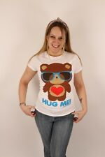 Loungefly Small Hug Me! $32.50 T-Shirt Tee Top White Teddy Bear Heart Cute Fun