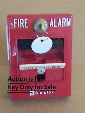 2 NEW SIMPLEX B Style KEY FOR FIRE ALARM PANEL AND PULL STATIONS