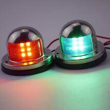 A Pair Bow Navigation LED Light For Boats -Stainless Housing Red and Green