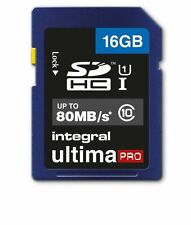 Integral Ultima Pro 16GB SDHC Memory Card Class 10 80MB/s Fast Speed SD Card New