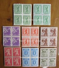 EBS Germany 1945 Soviet Occupation Berlin Bear set Berliner Bär BLOCKS 4 MNH**