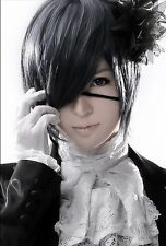 New Ciel Phantomhive Blue-gray Straight Anime Cosplay Black Butler  Wig