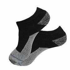 4 Pk NEW NO SHOW PREMIUM QUALITY HEAVY THICK SOCKS COTTON BLACK SOCKS SIZE 9-11