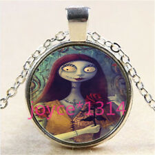 Nightmare Before Christmas Cabochon silver Glass Chain Pendant Necklace &3042