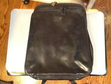 Perlina Black Lambskin Leather Multi-compartment Organizer Med Backpack Purse