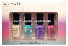 WET n WILD 4pc Mini Megalast COOL AND COLLECTED Nail Polish/Color Set/Lot NEW!