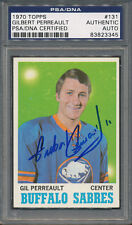 1970/71 Topps #131 Gilbert Perreault PSA/DNA Certified Authentic Auto *3345