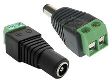 1Pair Male Female 12V DC Power Jack Cable AdapterConnector For CCTV Camera CAM