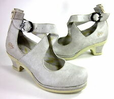 EJECT WOMEN'S 13603 MARY JANE PUMPS GREY LEATHER EUR 41 US SIZE 10 MEDIUM (B, M)