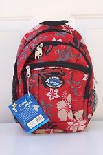 Hawaiian Design Turtle Print School Travel Beach Hiking Backpack RED EX-7045R
