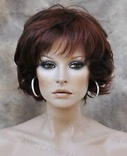 Wonderful EveryDay Short N Sassy Style wig full bangs Auburn Mix NLLx 33-130