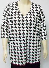 NAIS OF DENMARK,BLACK AND WHITE COTTON AND POLYESTER SHIRT, SIZE EXTRA LARGE