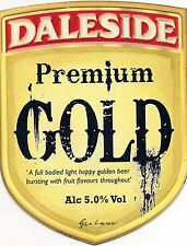 Daleside Brewery Pump clip front. Premium Gold 5.0% abv.