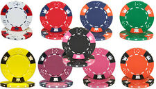 New Bulk Lot of 1000 Crown & Dice 14g Clay Casino Poker Chips - Pick Chips!