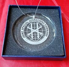 """JSOC US Joint Special Operations Command Premier Crystal  3"""" Ornament w Box"""