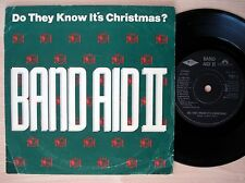 """Band Aid II Do They Know It's Christmas ♫LISTEN♫ UK 7"""" PWL FEED 2 1989 EX"""