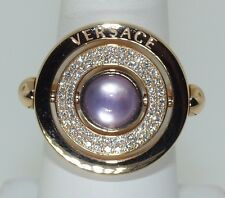VERSACE 18 KT. YELLOW GOLD DIAMOND AND AMETHYST SPINNING RING!!
