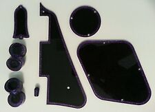 Pickguard,Truss Rod Cover, Knobs. Purple Flake/Black..Fits Gibson Les Paul.. JAT