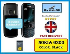 New Condition Nokia 6303 Black Unlocked Camera Bluetooth Classic Mobile Phone