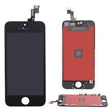 For iPhone 5s Black Front Glass Panel Touch Sensor Digitizer Flex LCD Frame SHPL