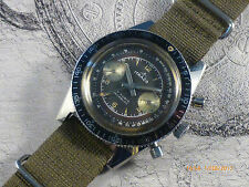 Skin Diver pilot chronograph ITRACO tropicalised landeron 248 38 mm 20 ATM Atmos