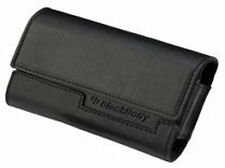 Genuine Blackberry Black Leather Horizontal Folding Wallet Folio Pouch Case