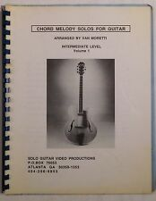 VAN MORETTI Chord Melody Solos For Guitar rare private press music book