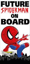 Spiderman Baby / Kids on Board Reusable Bumper Sticker Wall Sticker Decal