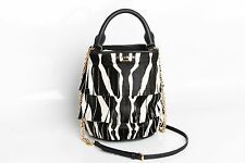 ❗️ NEW Burberry Prorsum Fringe Zebra Print Bucket Bag Retail $2495 Authentic